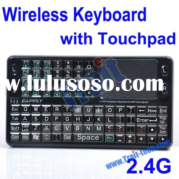 Mini Wireless 2.4GHz Rechargeable Integrated Keyboard With Touchpad Mouse EBO-013