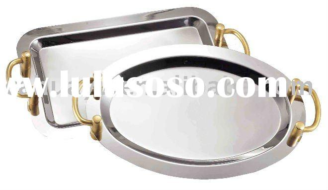 Mirror Polish Stainless Steel Serving Tray