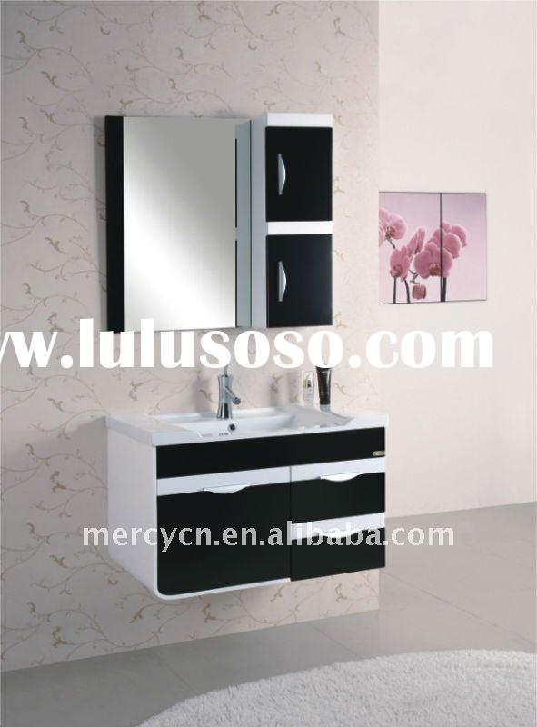 Modern high gloss white and black bathroom cabinet NP-23