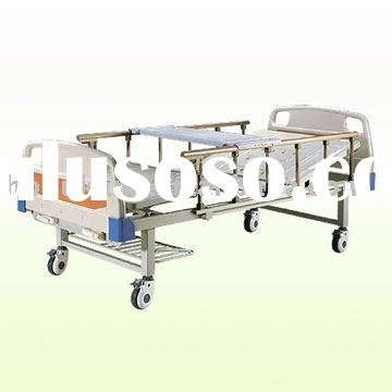 Movable two function manual hospital bed