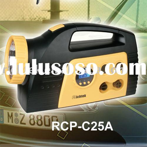 Multifunction Car Air Compressor (RCP-C25A, CE Approved, preset digital pressure gauge, high-volume