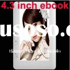 New 4GB 4.3 Inch touch Screen 4GB Ebook Reader MP3 MP4 Player support ebook E431