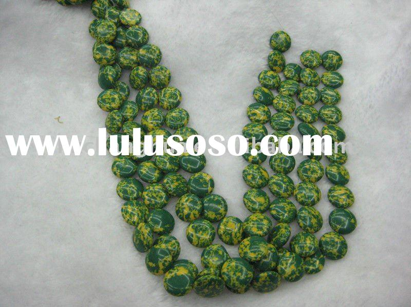 New Colored stone green citrine semi precious stone