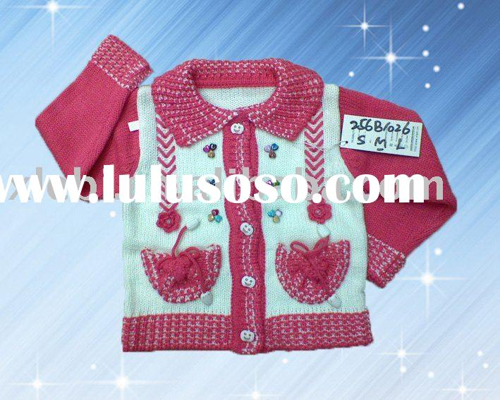 New collection graceful embroidery baby knitwear,child wear,children garment,kids clothing for girl&