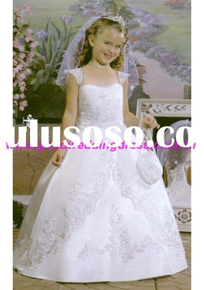 New style Little Queen flower girl dress CEW0214