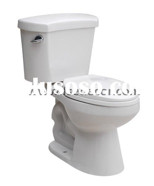 North American Style High Elongated Two Piece WC Toilet