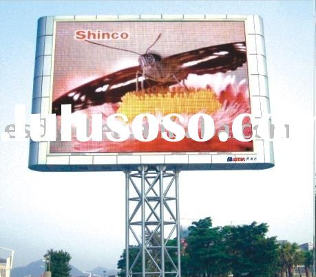 Outdoor advertisement LED display/LED sign board/full-color LED video wall