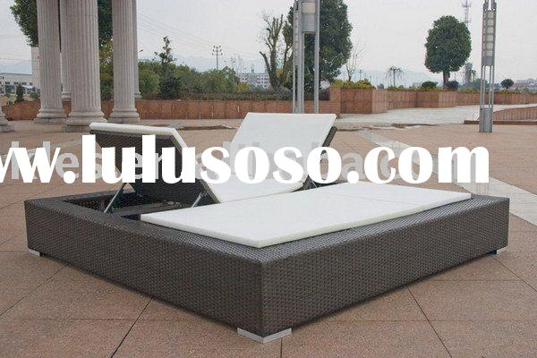 Outdoor furniture,double sun lounger bed