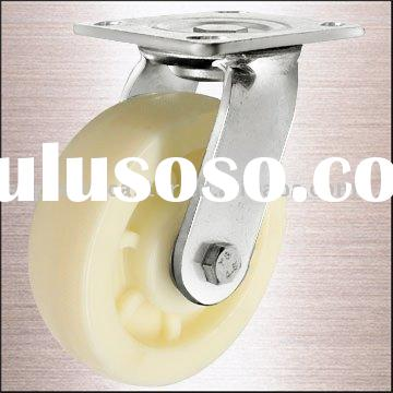 PP Heavy Duty Stainless Steel Caster with 6202 double Ball Bearing