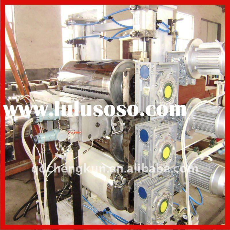 PS foamed sheet container production line/plastic foamed extruder