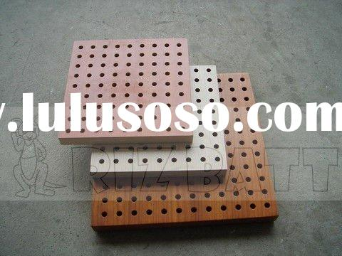 Perforated mdf wood acoustic panel