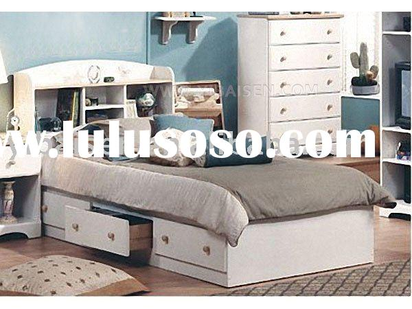 Pine bookcase bed wooden furniture home solid wood furniture bedroom furniture