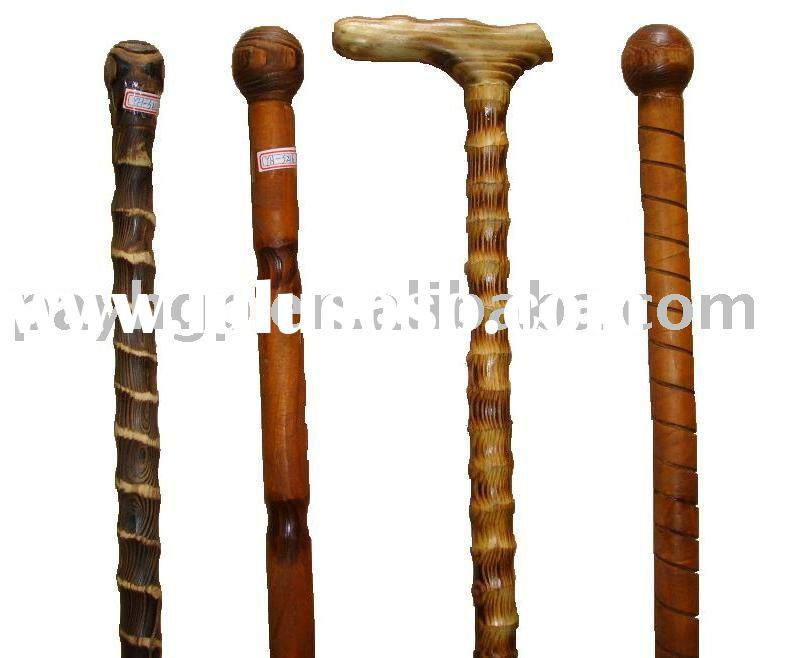 Pine wood walking sticks/walking canes/wooden canes/promotional items