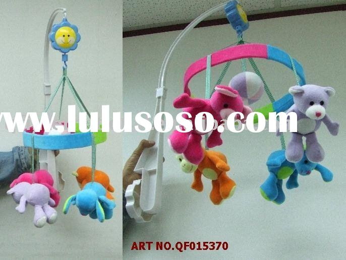 QF015370 PLUSH BABY MOBILES WITH MUSIC > COMES OUT IN ALL TYPES OF ANIMAL AND COLOUR