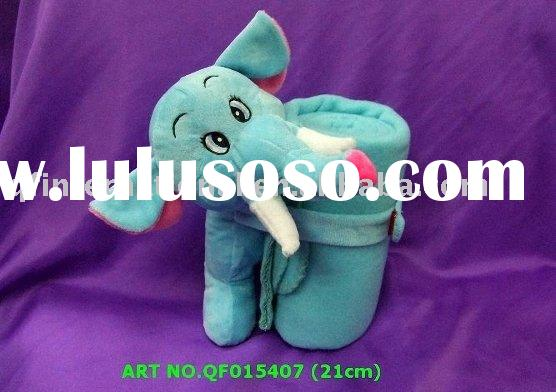 QF015407 21cm ELEPHANT WITH BLANKET (BLUE) > WE MAKE IT IN ALL TYPES OF ANIMALS AND COLOURS