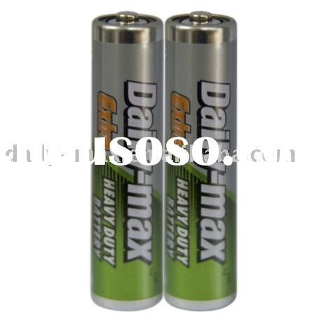 R03P (SUM-4/AAA Size) dry battery with metal jacket