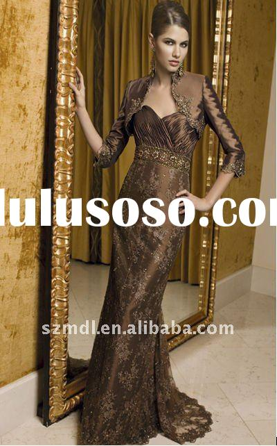 Ravishing Lace and Satin Formal Evening Dresses with Jacket