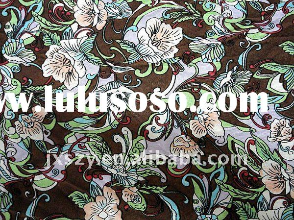 SILK/COTTON WOVEN FABRIC IN NORMAL PRINTED FOR HOME TEXTILE