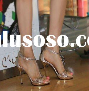 SS035 New style Rhinestone bridal shoes fashion sandals party shoes dress shoes high heel shoes