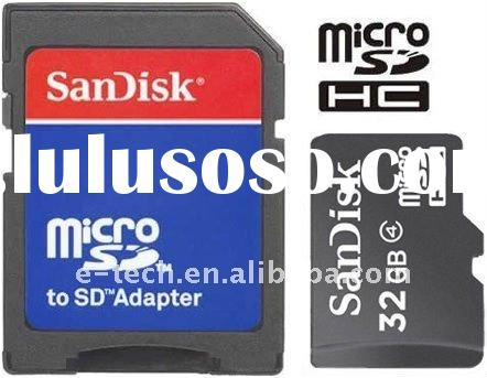 San disk 32GB MicroSD card Class 4 Micro SDHC card (MicroSD card) Memory Card with adapter Mobile me