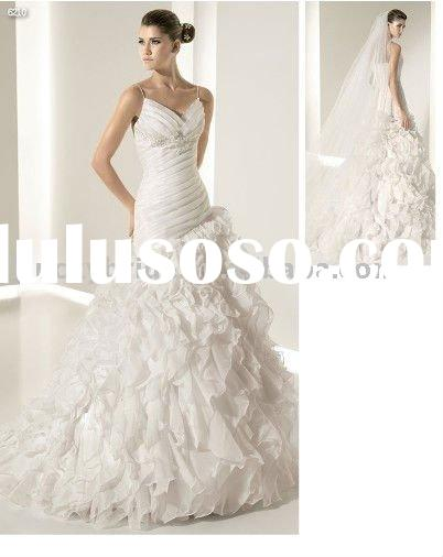 Sell Organza A-line Wedding dress Evening dress bride gown bridal Dress Prom dress