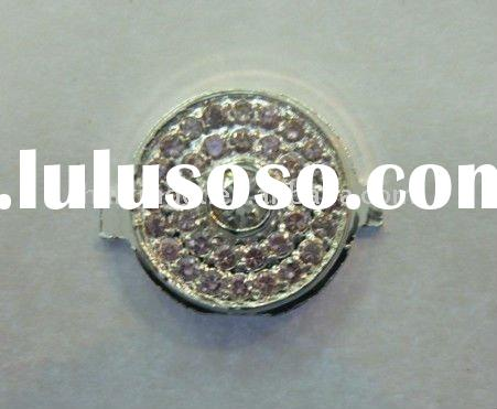 Silver for iPhone 4 Home Button with Pink diamond Stone