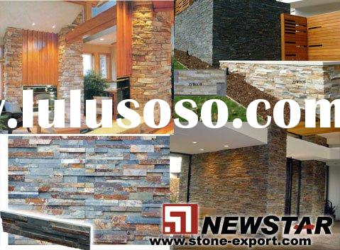 Slate wall cladding, strips slate,culture slate panel,slate flooring tiles,mushroom slate,tumble sla