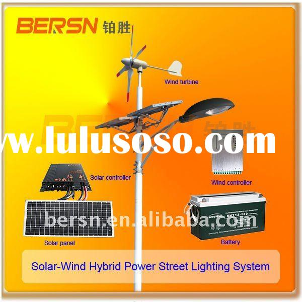 Solar and wind hybrid power street light