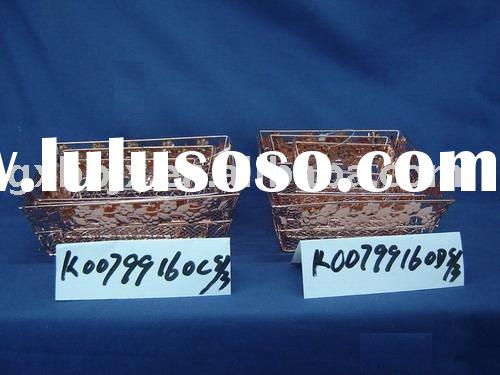 Square/Rectangle cuprous iron mesh decorative wire baskets