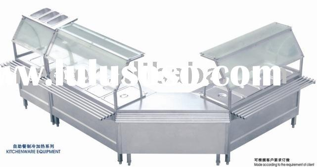 Stainless Steel Kitchenware Equipment/ Buffet Fridge/ Warmer/ Hot Food Display