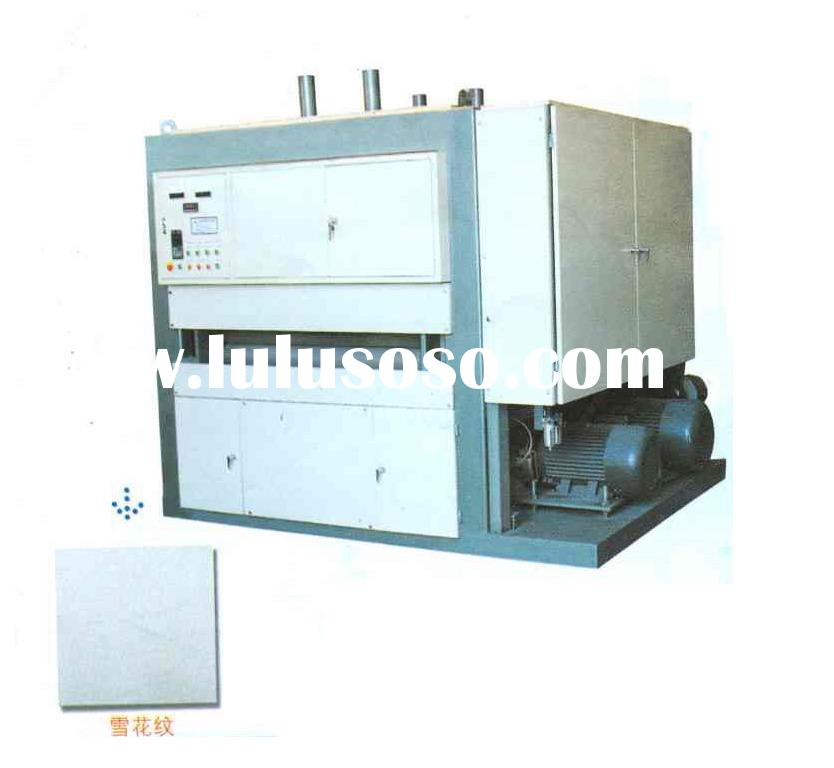 Stainless steel sheet no.4 polishing machine with 2 abrasive belts