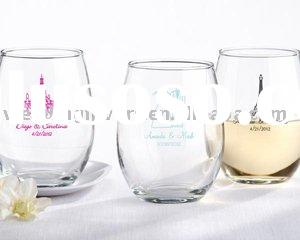 Stemless Personalized 9-oz Wine Glasses
