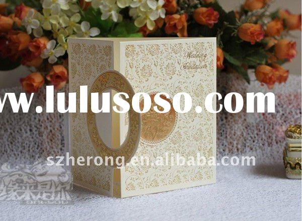 Top Sale 2011 New Arrival Wedding Invitation Cards can print customer's wedding invitation a