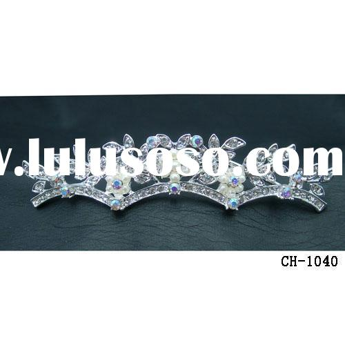 Triple crown/comb tiara/hair accessory/bridal jewelry/headband