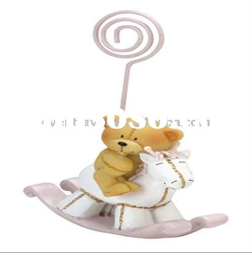 Wedding decoration Pink Bear Horse Card holder Baby Favors(Party Decorations)