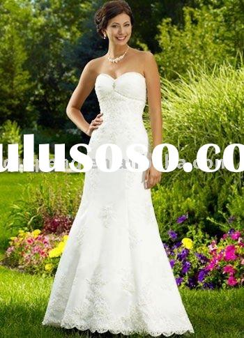White Mermaid Trumpet Strapless Sweetheart Wedding Gown 2011 Y0918021S