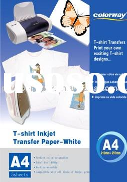 White T-shirt transfer paper & heat transfer paper & heat transfer printing paper