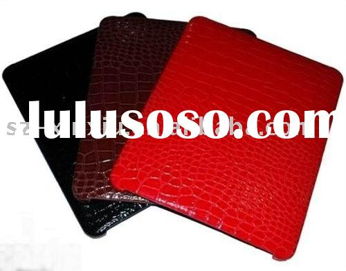Wholesale high quality crocodile shape leather case for apple ipad laptop computer protective leathe