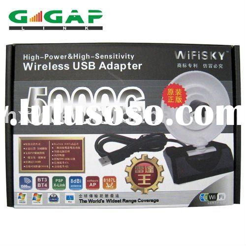 Wifisky 5000G 54mbps 1500mw high power usb wireless adapter