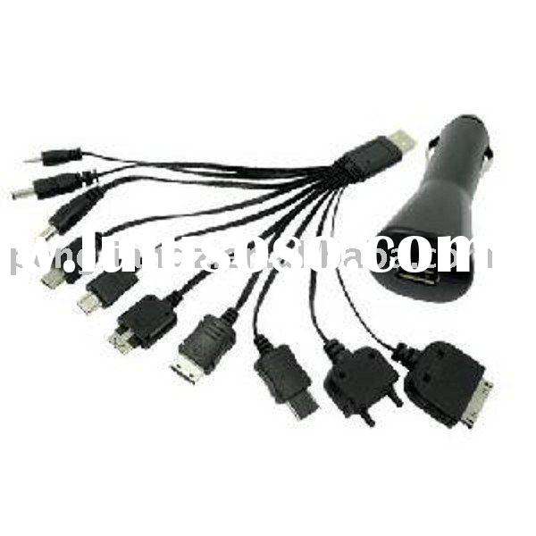 With A Car Charger 10-In-1 USB Mobile Phone Charging Cable