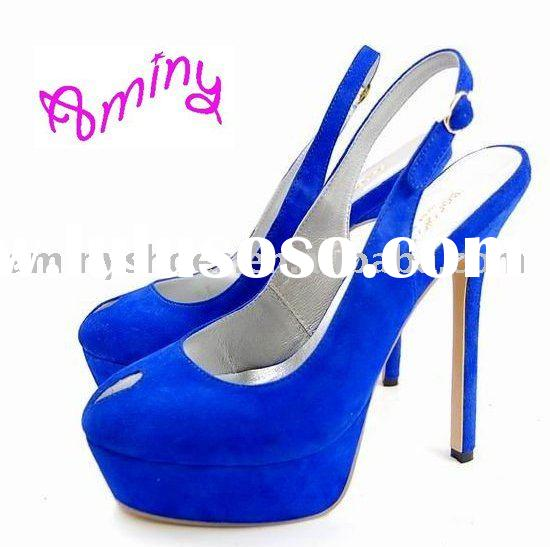 Women leather high heel shoes from Guangzhou