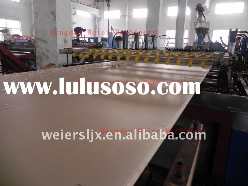 Wood Plastic Construction Sheet Extrusion Production Line