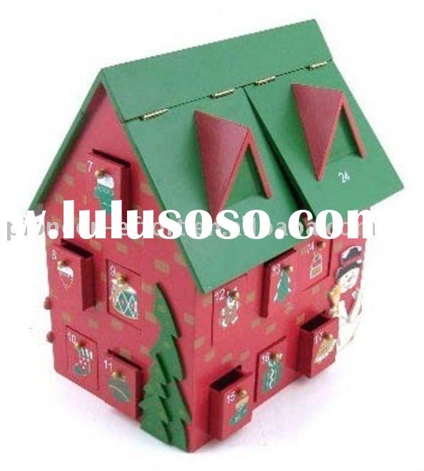 Wooden Christmas Advent Calendar House