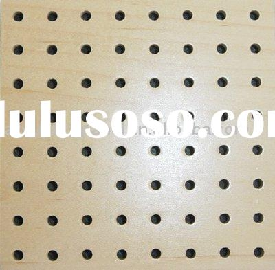 Wooden Perforated Acoustic Wall Panels