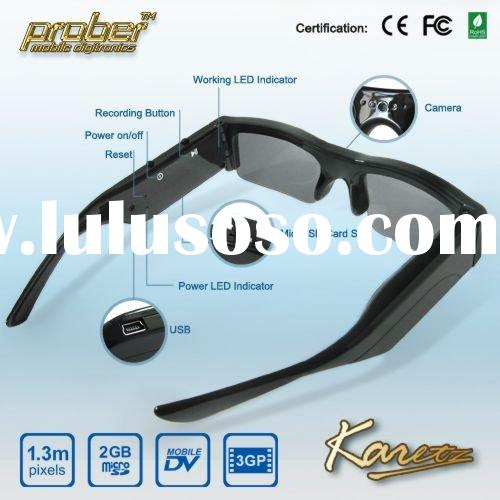 X130 video recorder eyewear/camera glasses/sunglasses recorder