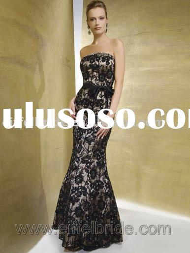 XL-09240 lace evening gown butterfly knot in the waist evening dress formal evening dresses formal e