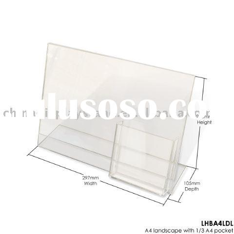 acrylic leaflet holder, acrylic brochure display stand, acrylic ad exhibitor, acrylic flyer rack