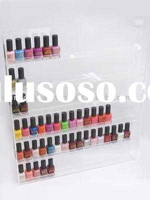acrylic slat-wall nail polish display rack