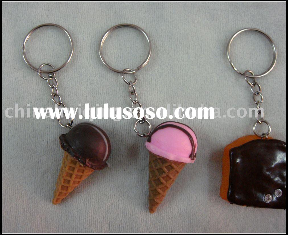 artificial food key chain