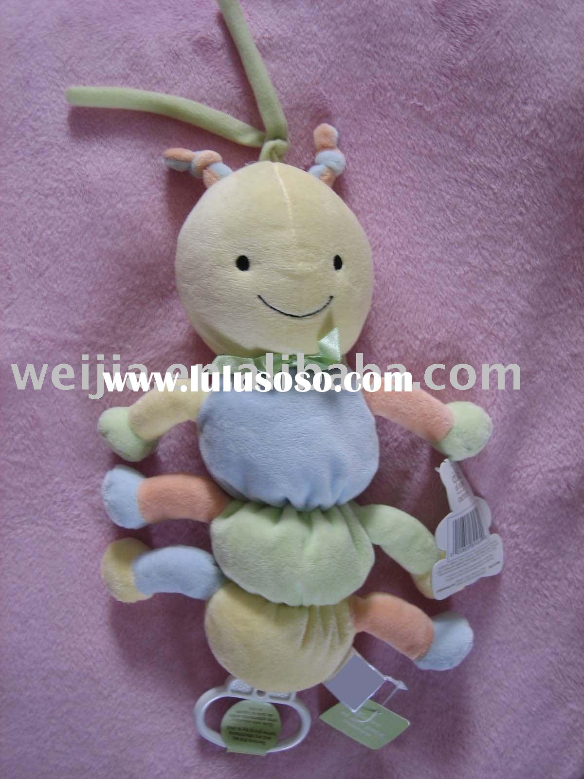 baby toy with musical pull string/plush toy/stuffed baby toy/musical toy/baby gift